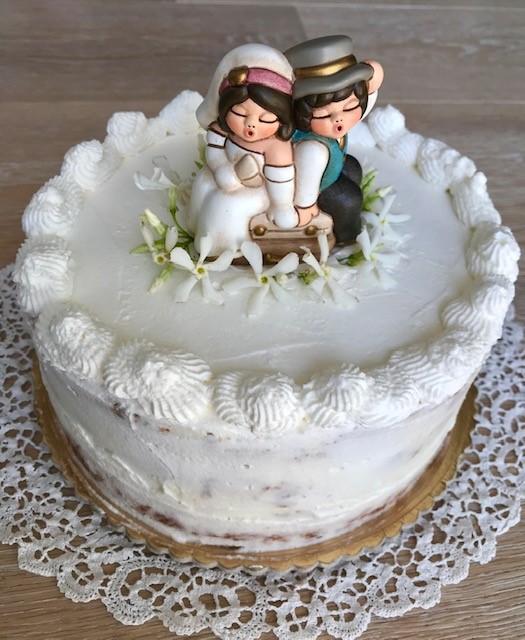 Naked cake sposi
