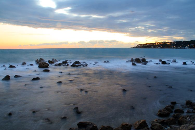 Sunrise in Antibes, French Riviera (November)