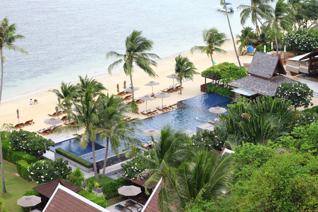 Intercontinental Resort and Spa in Koh Samui, Thailand.
