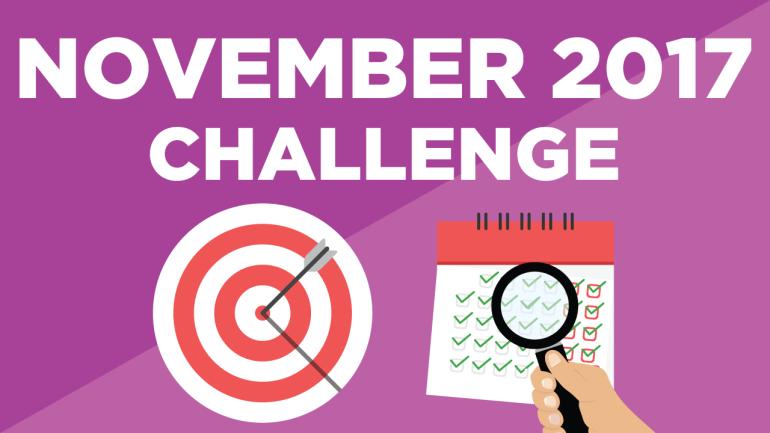 My November Challenge: Enjoy Every Bite