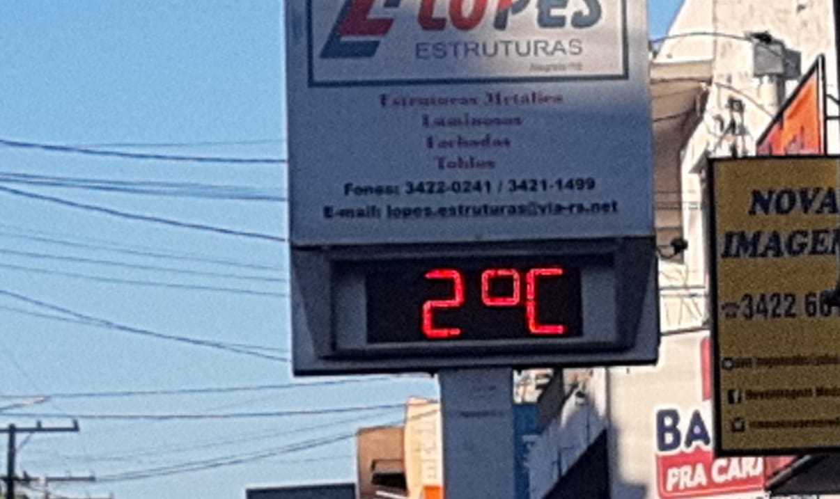 Frio congelante em Alegrete