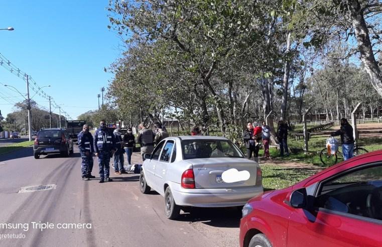 Ciclista é atropelado por veículo na Eurípedes Brasil Milano