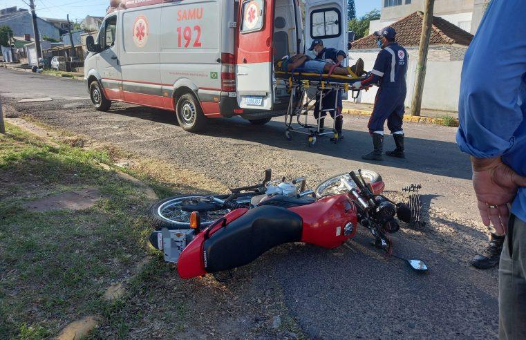 Condutora provoca acidente e deixa motociclista ferido