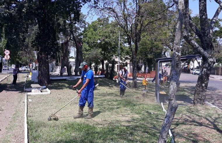 Alegrete conta com mão de obra de apenados para limpeza de espaços públicos