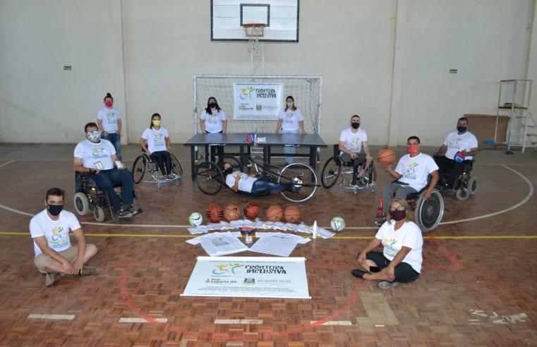 Associação Esporte para Todos é beneficiada pelo Projeto Fronteira Inclusiva com material a paratletas