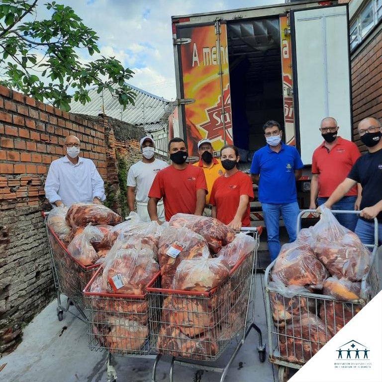 Generosa doação: Santa Casa recebe uma tonelada de carne para o consumo do hospital