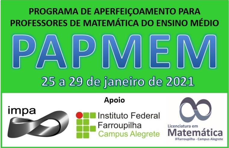 IFFar Alegrete e IMPA oferecem Programa de Aperfeiçoamento para professores de matemática do ensino médio