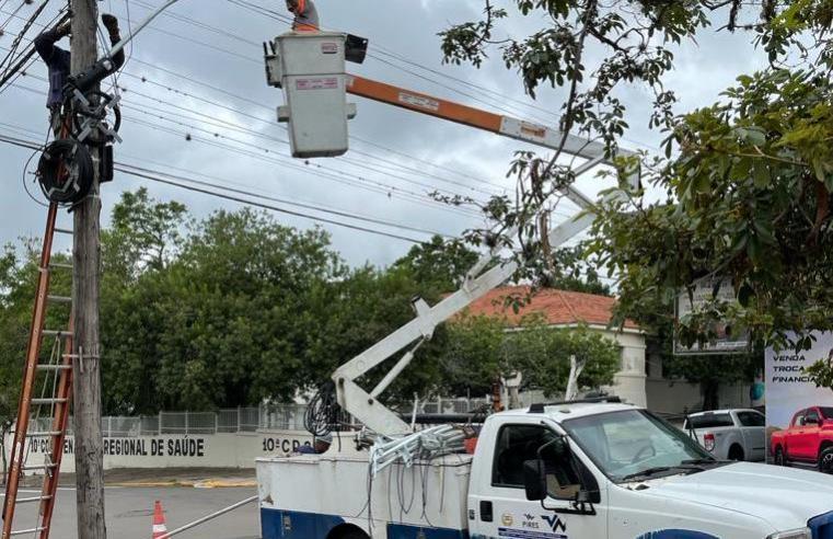 A iluminação pública a LED esta sendo concluída em Alegrete