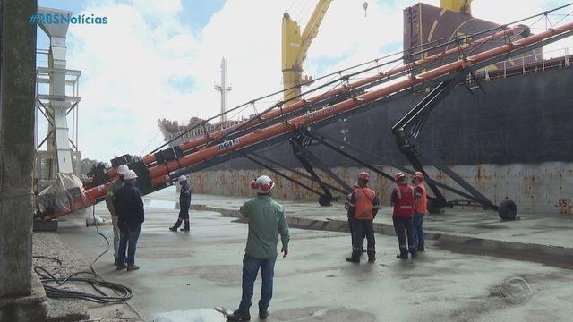Terminal exclusivo para carregamento de arroz entra em operação no Porto de Rio Grande