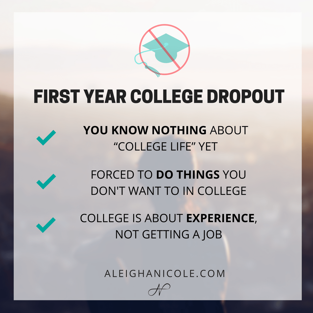 the causes of college student dropouts Why students drop out of high school education essay high school dropouts if a student does not graduates and one million less than college.