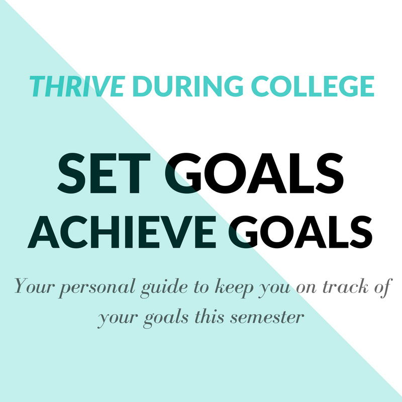 Semester Goal Setting Worksheet