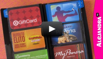 Video how to organize business cards video how to organize your wallet credit cards gift cards colourmoves