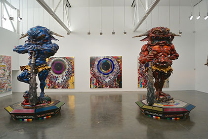 47 Gagosian Blue and Red Demons
