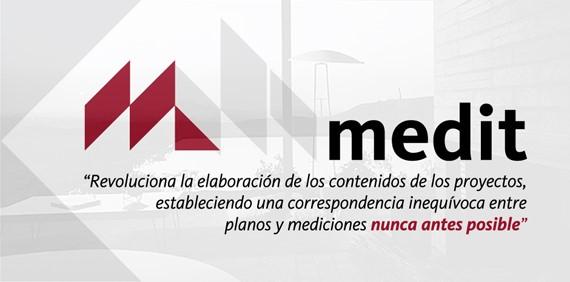 Figura 4. Promocional de Medit, extensión de Autodesk REVIT, que permite generar volúmenes de obra y presupuestación en automático, a partir del modelo 3d, generado (BIM).