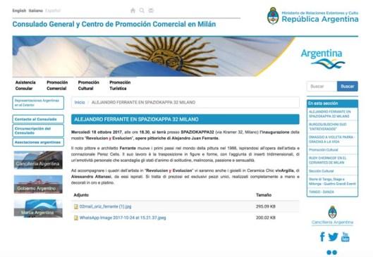Ministero de Relaciones exteriores y culto - Republica Argentina