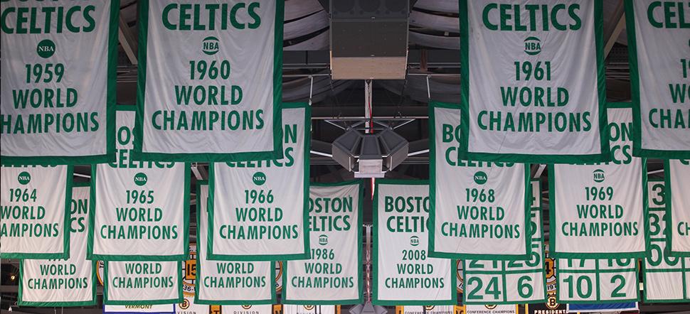 17 banners, Boston Celtics
