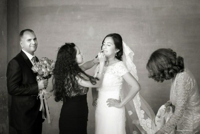 fotógrafo de bodas. Novia Alhambra