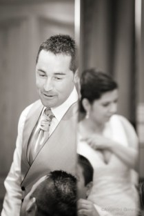 Reportaje de boda en Granada. Celebracion y espejos