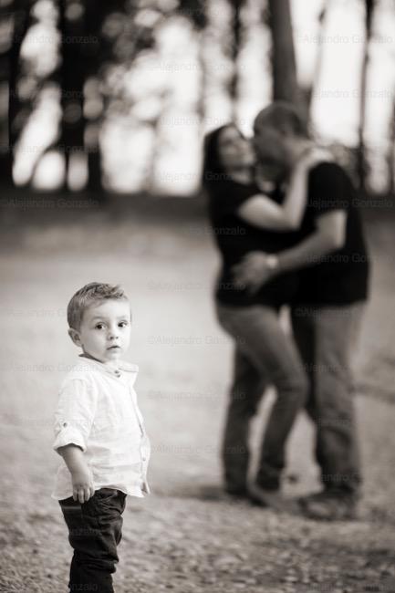foto de embarazo y familia