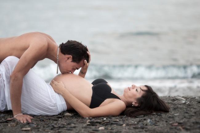 fotos embarazada granada playa
