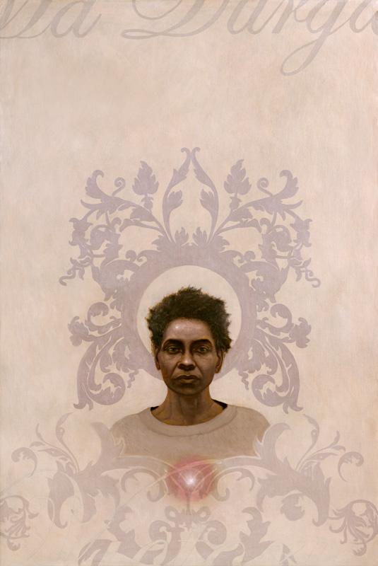 ma durga - oil on canvas 36 x 54 inch