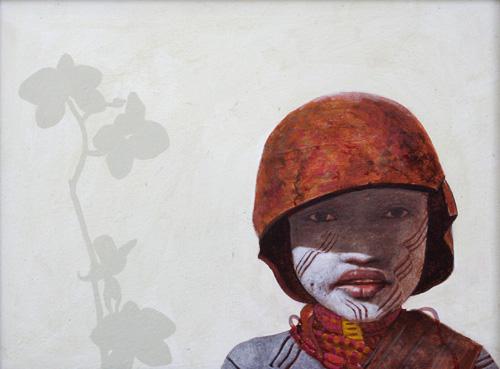 girl, oil painting