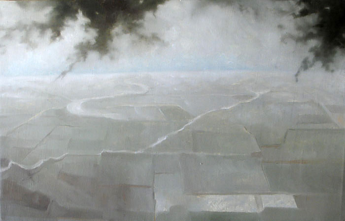 horizon, oil painting