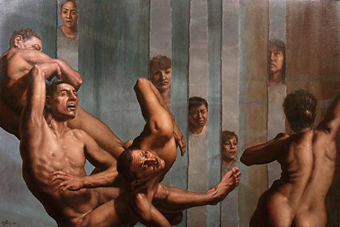 witness - oil  on linen - 36 x 54 inch