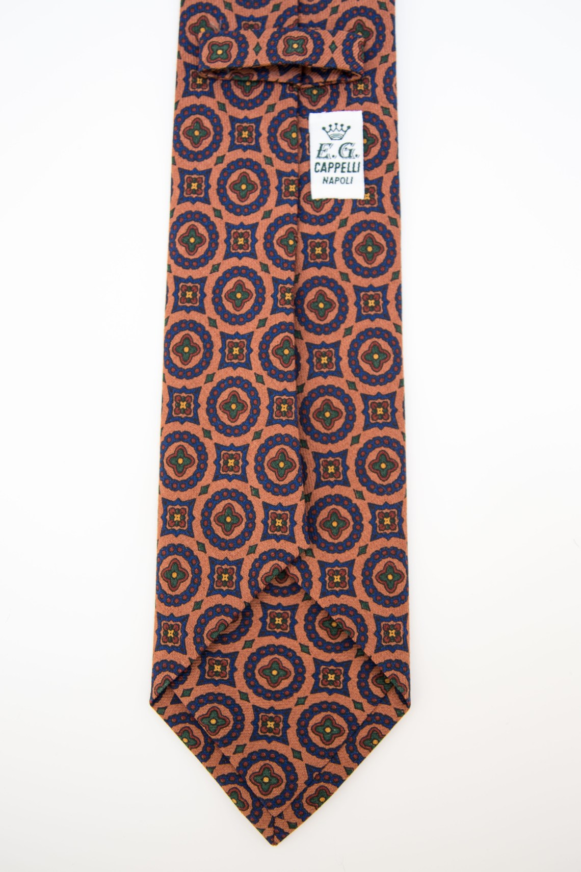 E.G. Cappelli - Multi Patterned Brick Tie 3-fold tie and Self-tipped