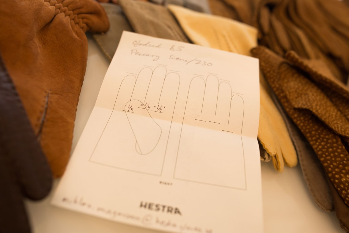 Hestra Bespoke gloves