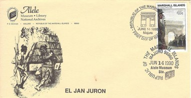 Alele Postal Sub-Station First Day Cover - El Jan Juron