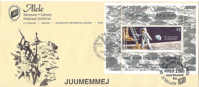 Alele Postal Sub-Station First Day Cover - Juumemmej - Aug 1 19