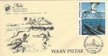 Alele Postal Sub-Station First Day Cover - Waan Piltak - Oct 31 1991