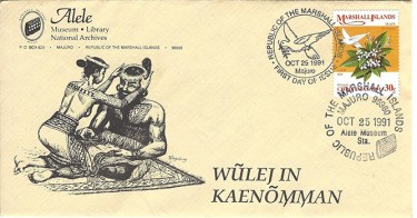 Alele Postal Sub-Station First Day Cover - Wulej In Kaenomman