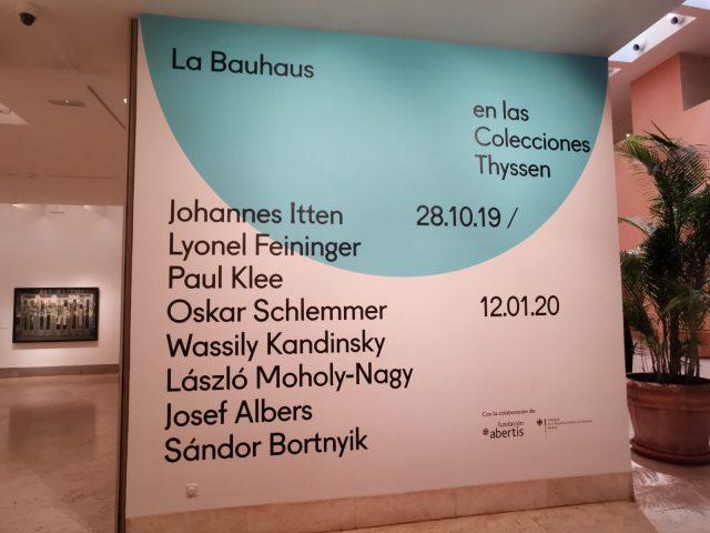 Visita a la exposición Bauhaus en el museo Thyssen