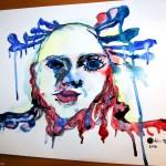 Akvarel a tuž