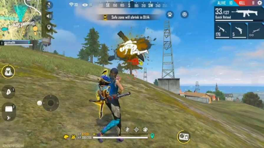 free fire best player