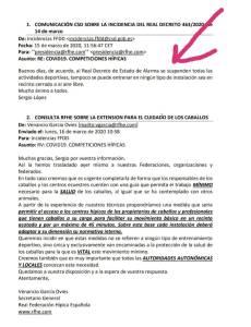 Federação Hipica Espanhola proíbe claramente montar a cavalo