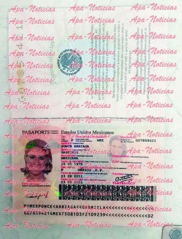 pasaporte falso esposa de duarte2
