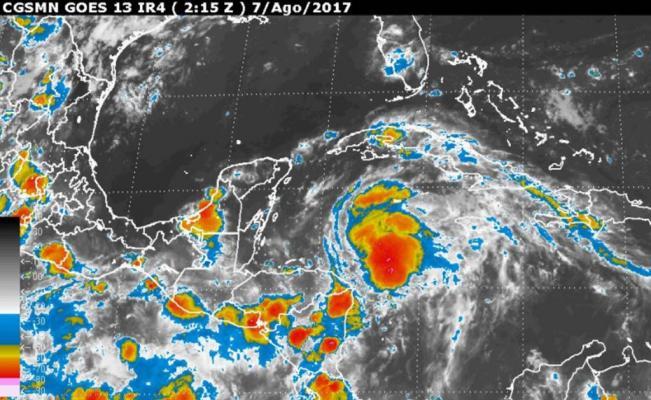 'Franklin' causará este miércoles tormentas en Veracruz