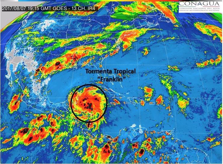Tormenta Franklin podría convertirse en huracán