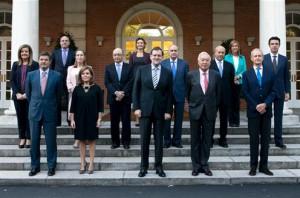 Foto de familia del nuevo Ejecutivo de Mariano Rajoy
