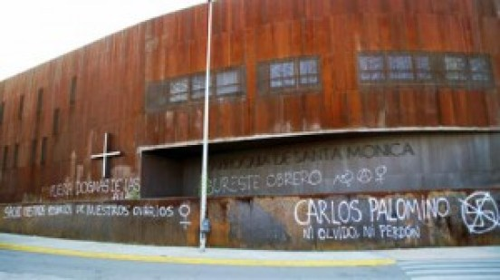 Las pintadas blasfemas en las iglesias prolifderan en España.