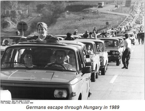 En 1989 eran los alemanes del este quienes hudían del terror comunista a través de Hungría.