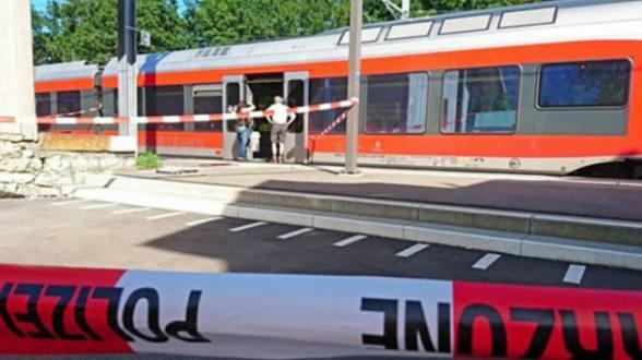 Tren suizo donde se produjo el ataque del pasado fin de semana.
