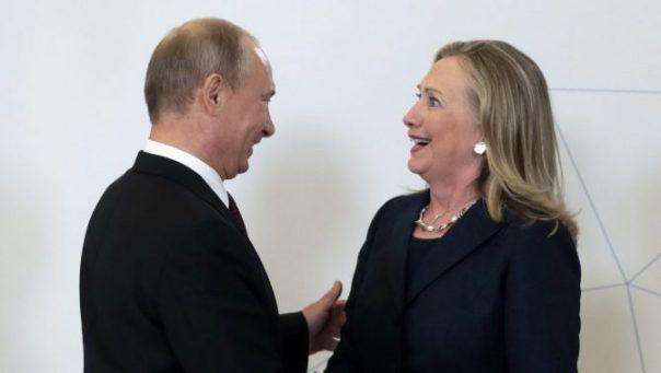 Vladimir Putin y Hillary Clinton.