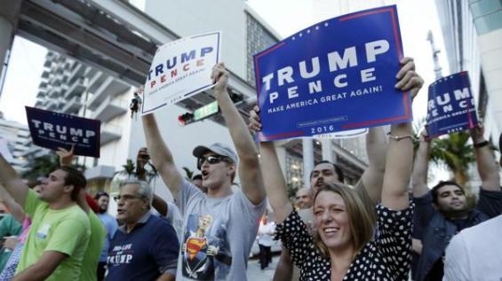 Donald Trump cuenta con el apoyo mayoritaria de los electores norteamericanos de raza blanca.