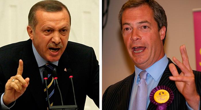 """En febrero de 2016, el presidente de Turquía, Recep Tayyip Erdogan (izquierda), amenazó con enviar millones de migrantes a Europa. """"Podemos abrir las puertas a Grecia y Turquía en cualquier momento, y poner a los refugiados en autobuses"""", le dijo a Jean-Claude Juncker (derecha), presidente de la Comisión Europea. (Imagen: Oficina del Presidente de Turquía."""