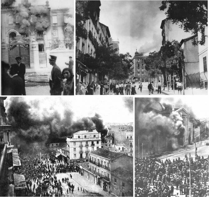 Quema de conventos durante la II república.