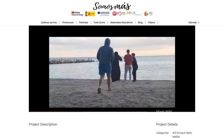"""Captura de la web oficial """"somos-mas.es"""""""